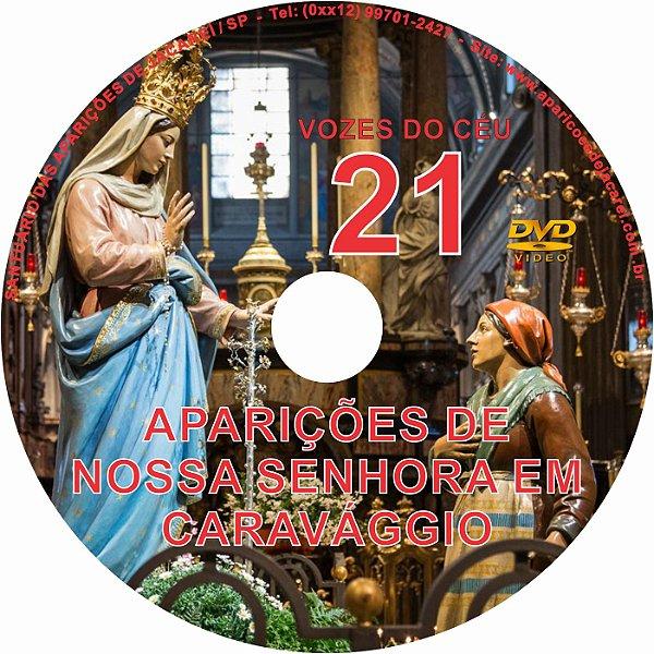 DVD VOZES DO CÉU 21- Filme das Aparições de Nossa Senhora à Vidente Gianneta Vacchi em Caravággio- Itália