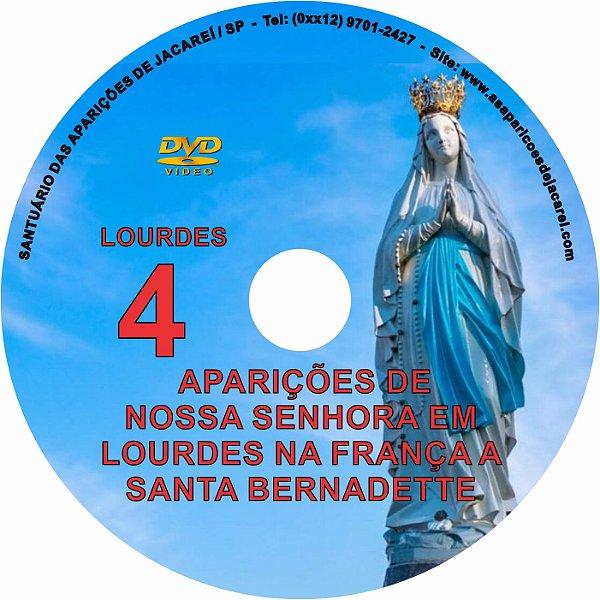 DVD- FILME AS APARIÇÕES DE LOURDES 4