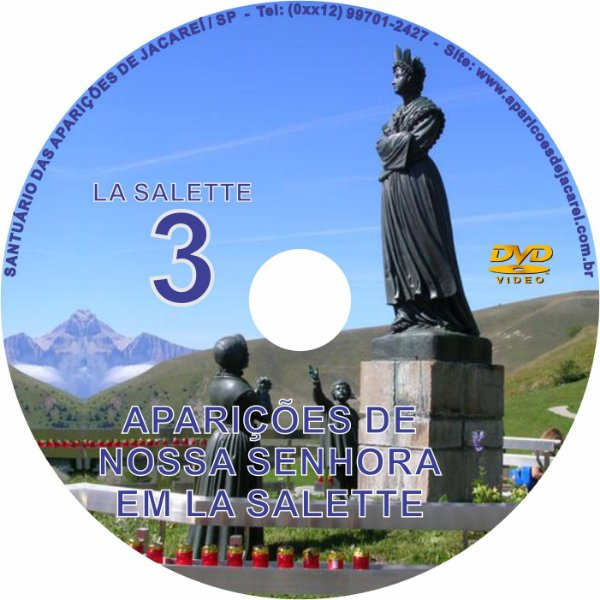 DVD- FILME AS APARIÇÕES DE LA SALETTE 3