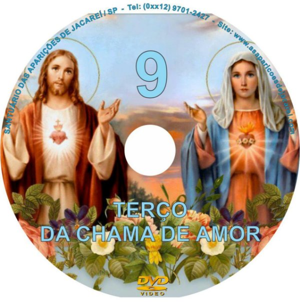 DVD ILUSTRADO- TERÇO DA CHAMA DE AMOR 9