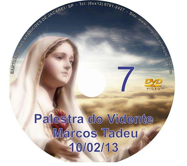 DVD 007-PALESTRA DO VIDENTE MARCOS TADEU 10/02/13