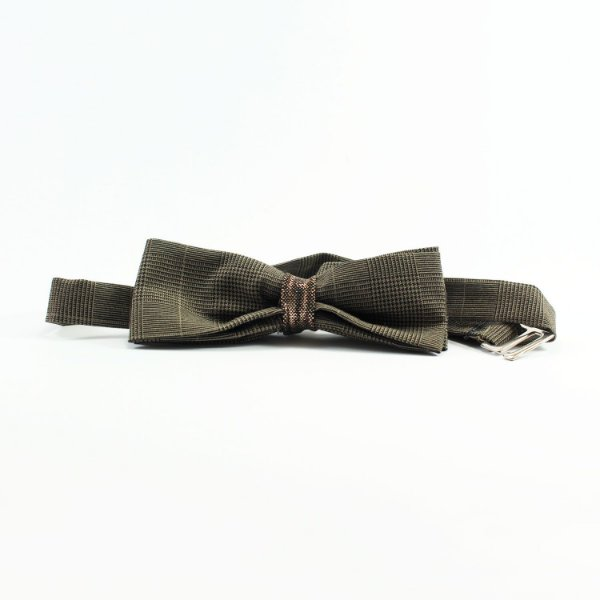 Gravata Borboleta Alfaiataria Com Detalhe Cobre