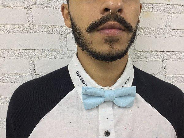 Gravata Borboleta Azul Claro