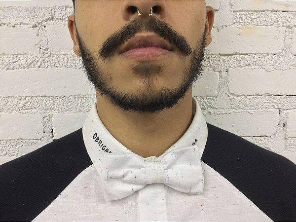 Gravata Borboleta Branca