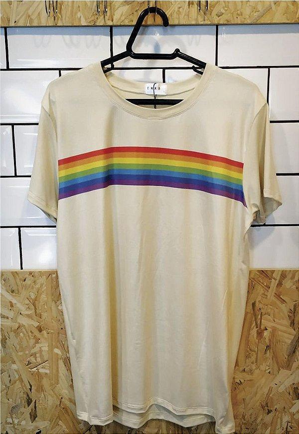 Camiseta Listras Rainbow