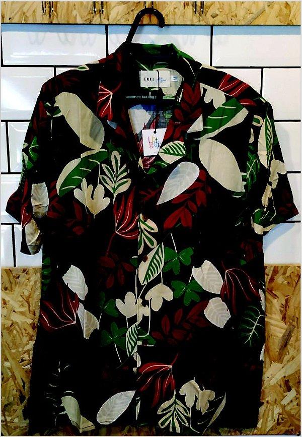 Camisa Floral Preta