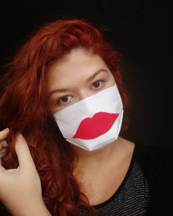 Máscara de tecido boca