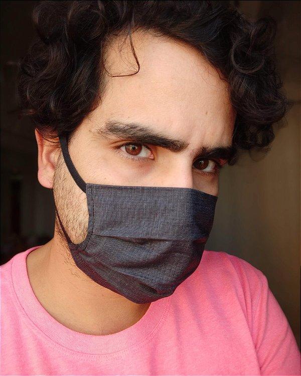 Máscara de tecido grafite