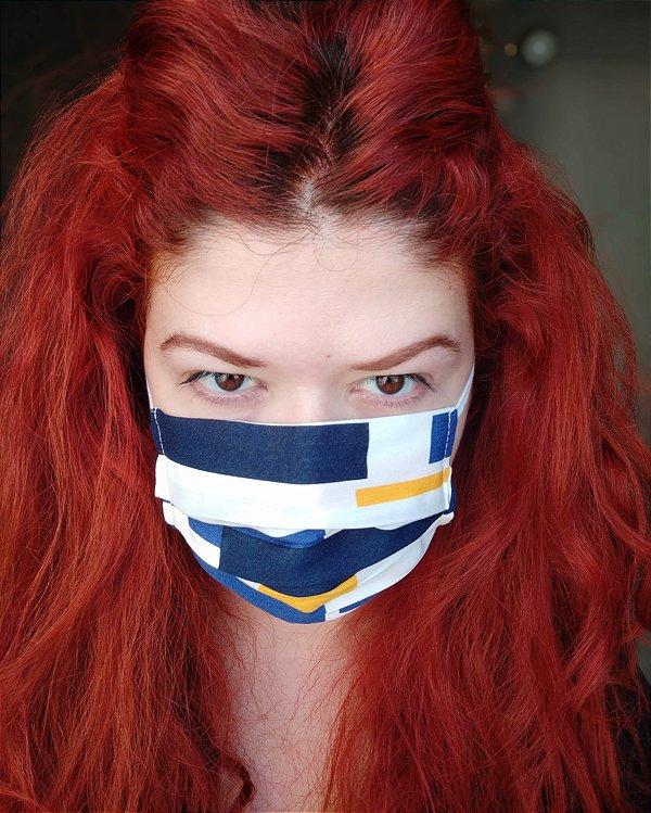 Máscara de tecido blocos