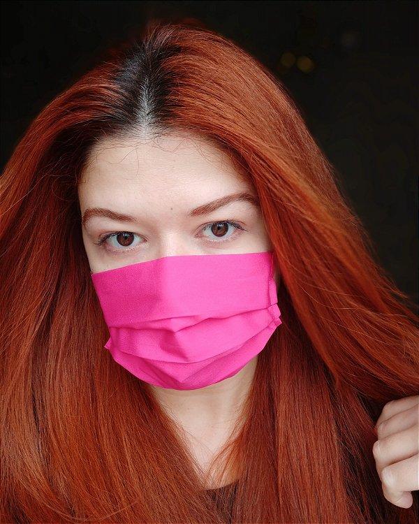 Máscara de tecido pink