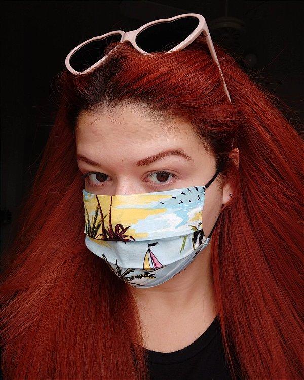 Máscara de tecido Hawaii
