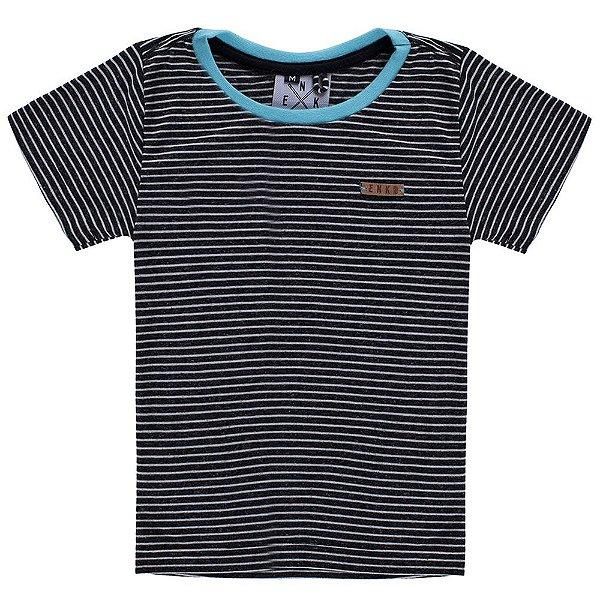 Camiseta Listrada Fio Tinto Djobi Azul Infantil