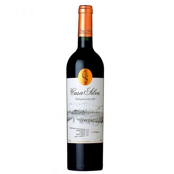 Vinho Chileno 5 Cepas Casa Silva 750ml