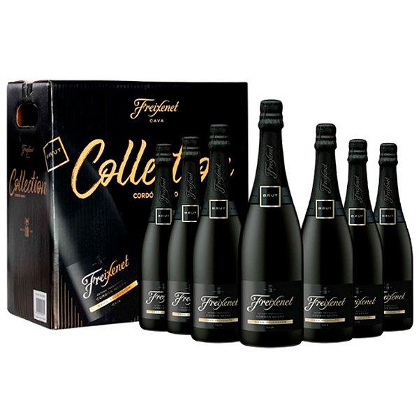 KIT Freixenet Collection Cordon Negro 6un 750ml + 1un - 1,5L