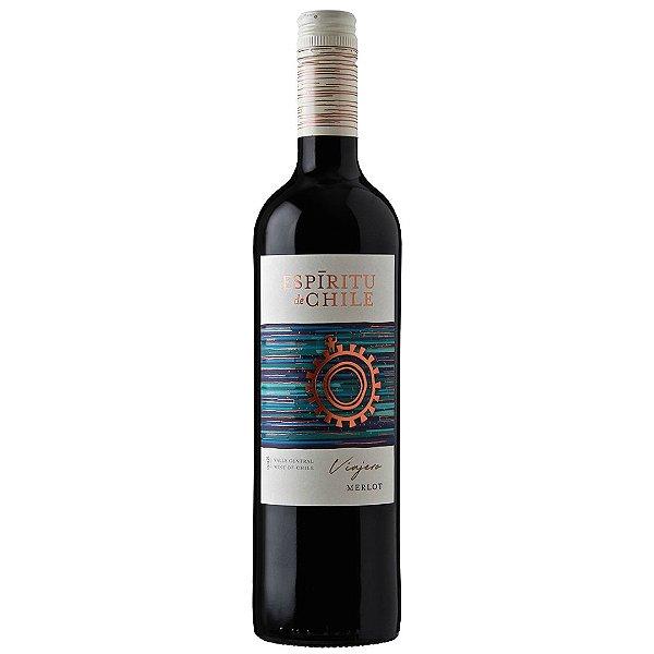 Vinho Chileno Espíritu de Chile Viajero Merlot  750ml