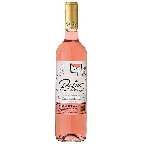 Vinho Português Rotas de Portugal Verde D.O.C. Rosé 750ml