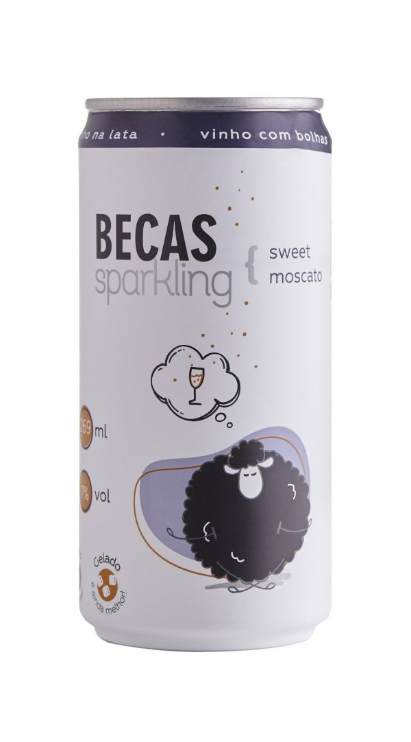 Vinho Lata Becas Sweet Moscato 269ml