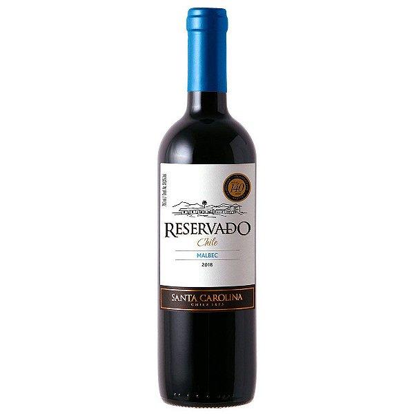 Vinho Chileno Santa Carolina Reservado Malbec 750ml