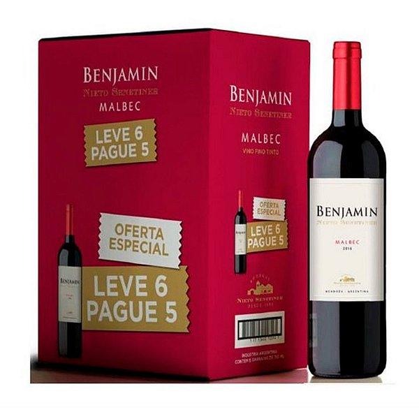 Kit Leve 6 Pague 5 Vinhos Benjamin Malbec