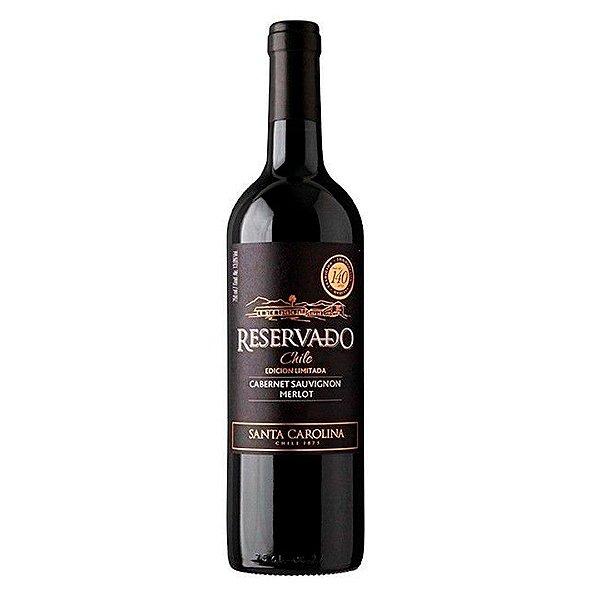 Vinho Chileno Santa Carolina Reservado Edicion Limitada Cabernet e Melot 750ml