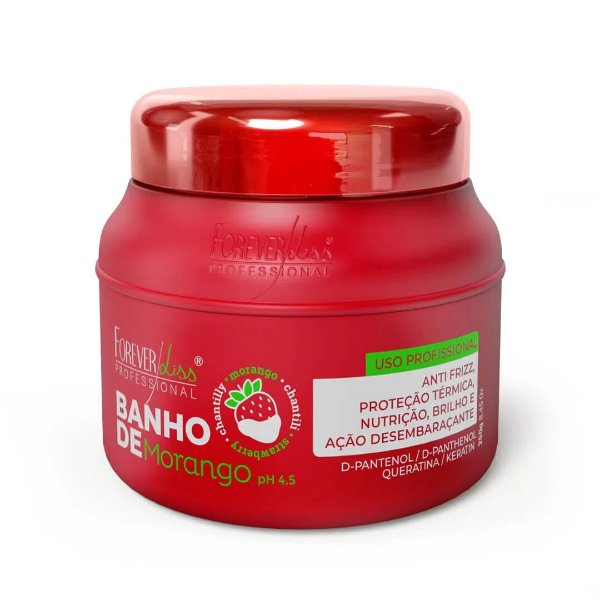 MASCARA BANHO DE MORANGO FOREVER LISS 250g