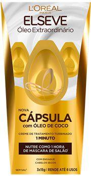 ELSEVE CREME DE TRATAMENTO CAPSULA OLEO EXTR. 3X15g