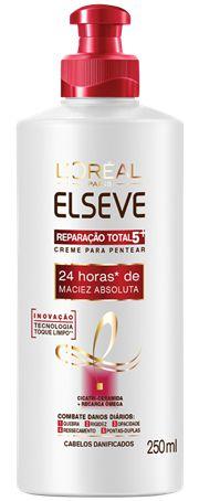 ELSEVE CREME PARA PENTEAR MACIEZ ABSOLUTA REPARAÇÃO TOTAL 5 250mL