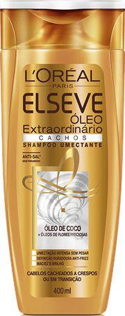 ELSEVE SHAMPOO CACHOS OLEO DE COCO EXTR. 400mL