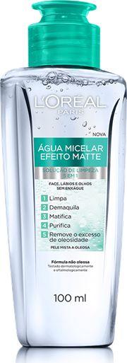 LOREAL AGUA MICELAR EFEITO MATTE 5 EM 1 100mL