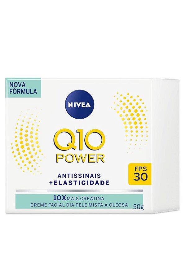 NIVEA Q10 POWER FACIAL ANTISSINAIS DIA PELE MISTA A OLEOSA 10X CREATINA 50g