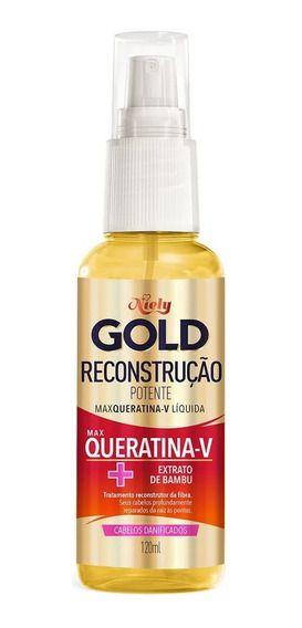 NIELY GOLD MAX QUERATINA-V LÍQUIDA RECONSTRUÇÃO POTENTE 120mL