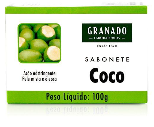 GRANADO SABONETE EM BARRA COCO PELE MISTA E OLEOSA 100g