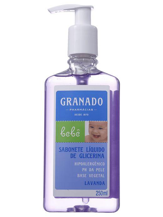 GRANADO BEBÊ SABONETE DE GLICERINA LÍQUIDO LAVANDA 250mL