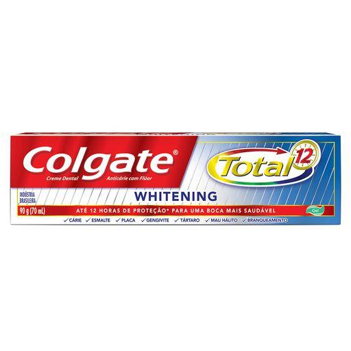 COLGATE CREME DENTAL TOTAL 12 WHITENING 90g