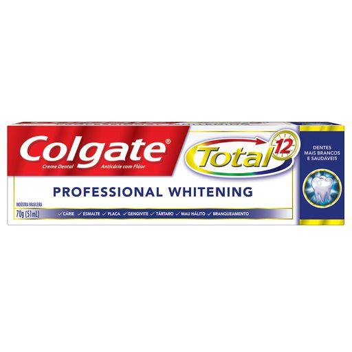 COLGATE CREME DENTAL TOTAL 12 PROFESSIONAL WHITENING 70g