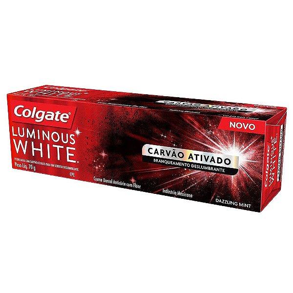 COLGATE CREME DENTAL LUMINOUS WHITE CARVÃO ATIVADO 70g