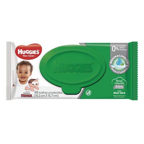 HUGGIES LENÇOS UMEDECIDOS MAX CLEAN 48un