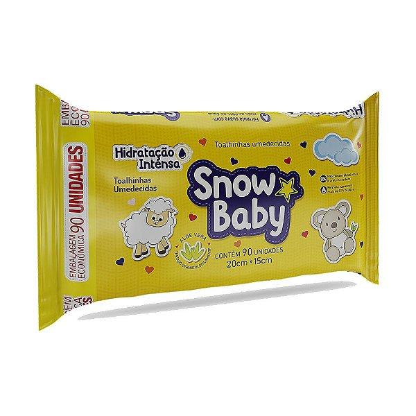 SNOW BABY TOALHINHAS UMEDECIDAS HIDRATAÇÃO INTENSA 90un