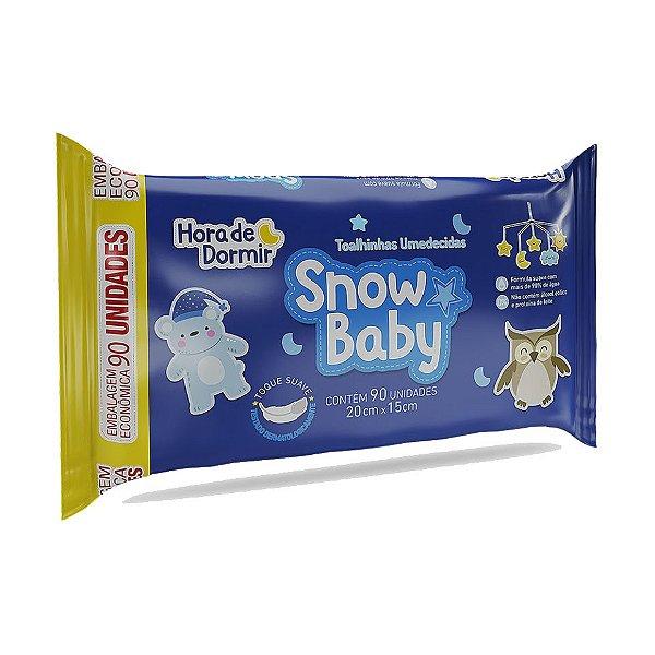 SNOW BABY TOALHINHAS UMEDECIDAS HORA DE DORMIR 90un