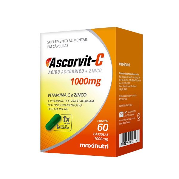 MAXINUTRI ASCORVIT-C 1000mg 60 CÁPSULAS