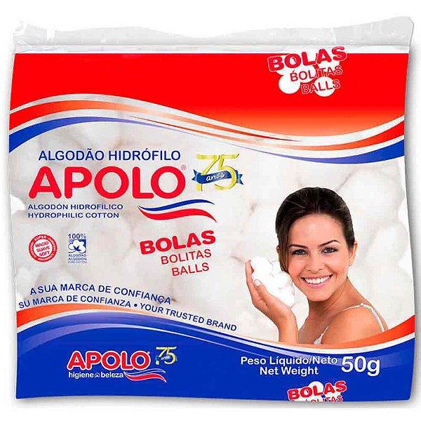 APOLO ALGODÃO HIDRÓFILO BOLAS 50g
