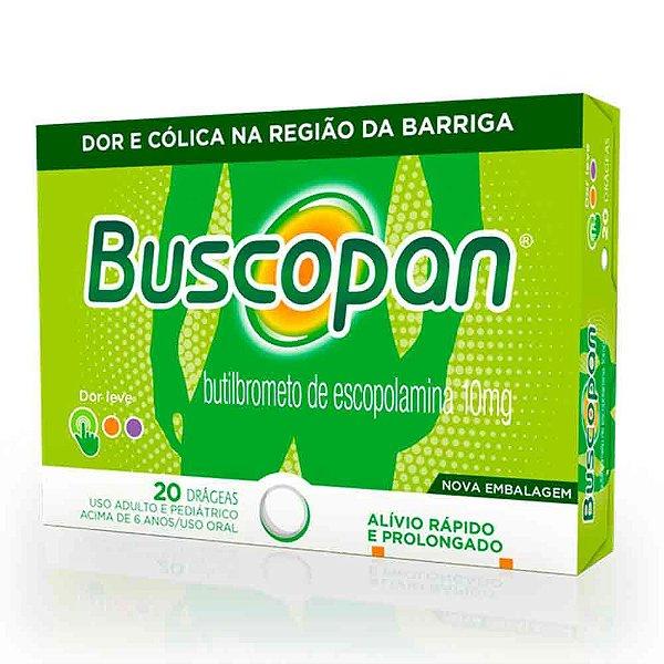 BUSCOPAN COM 20 DRÁGEAS