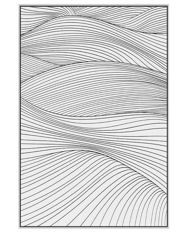 Quadro Canvas Curvas Brancas P&B