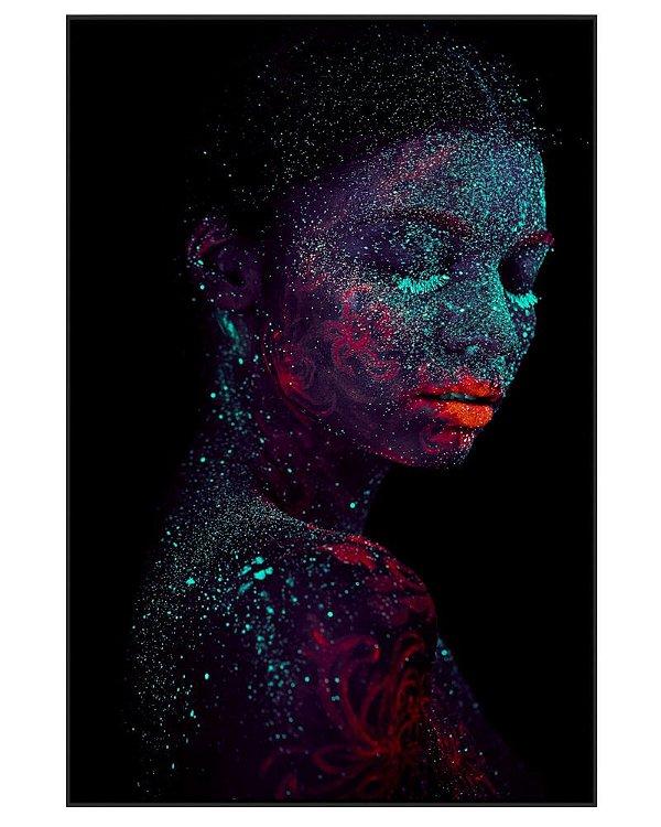 Quadro Canvas Mulher e Tinta