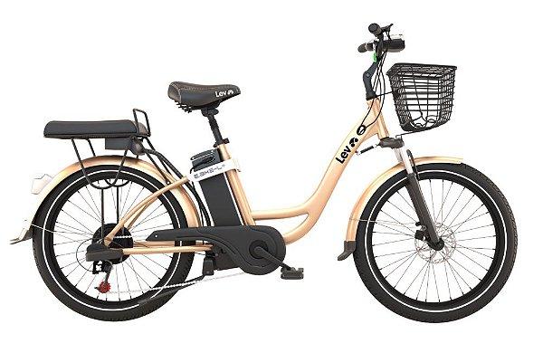 Bicicleta Elétrica Lev E-bike L+ Aro 26 - Dourada