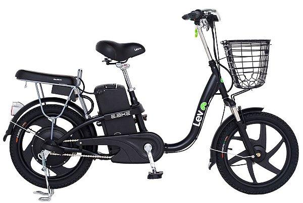 Bicicleta Elétrica Lev E-bike Aro 18 - Preta