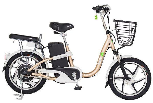 Bicicleta Elétrica Lev E-bike Aro 18 - Dourada