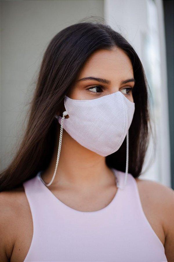Máscara de Tecido com Corrente