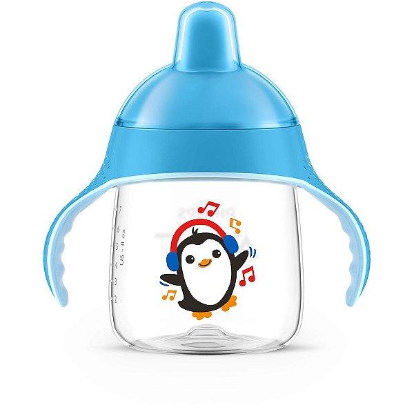 Copo Pinguim Azul 260ml - Avent 12+