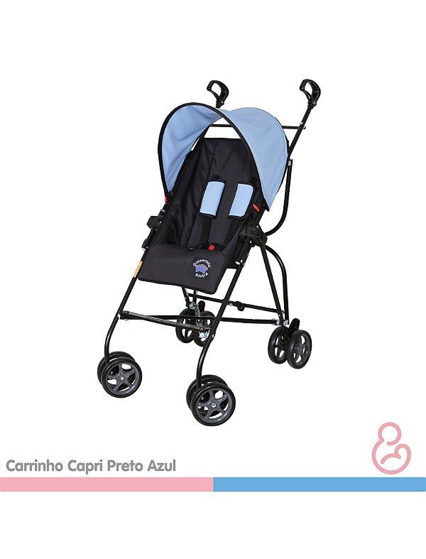 Carrinho Capri Preto com azul - Galzerano